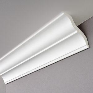 Balta apdailos juosta luboms